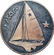Medal - Olympic Games 1980 Moscow (Tallinn 80 - Star; Estonia) -  avers