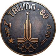 Medal - Olympic Games 1980 Moscow (Tallinn 80 - Star; Estonia) -  revers