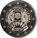 2 euros Conseil de la Terre – avers