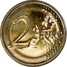 2 euros Conseil de la Terre – revers