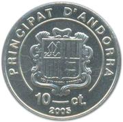 10 céntims – avers