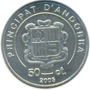 50 cèntims (Pape Jean Paul II) -  avers