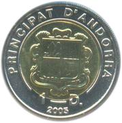 1 diner (Notre Dame de Meritxell) – avers