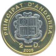 2 diners (Pape Jean Paul II) – avers