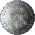 20 diners (Jeux olympique de 1988) – avers