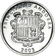 1 cèntim - Joan Enric Vives Sicília (St. Marti de la Cortinado) – avers