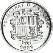 1 cèntim - Joan Enric Vives Sicília (Pont de la Margineda) – avers
