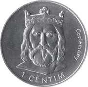 1 cèntim - Joan Martí i Alanis (Charlemagne) – revers