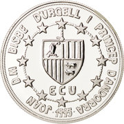 10 diners (ECU Union douanière) -  avers