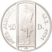 10 diners (ECU Union douanière) -  revers