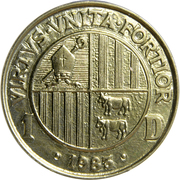 1 diner - Joan Martí i Alanis (Joan D'Urgell I) -  avers