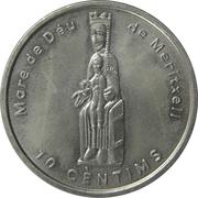 10 cèntims Notre Dame de Meritxell – revers