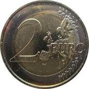 2 euros Majorité à 18 ans – revers