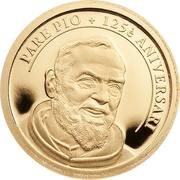 1 Diner (Saint Pio of Pietrelcina) -  revers