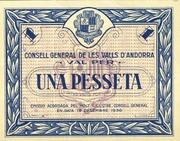 1 Pesseta – avers