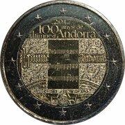2 euros Hymne d'Andorre – avers