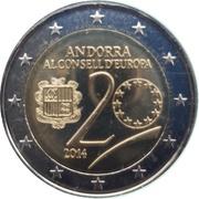 2 euros Conseil de l'Europe – avers