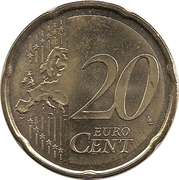 20 cents d'euro -  revers