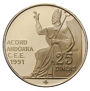 25 Diners - Bishop Pere D'Urg seated – revers