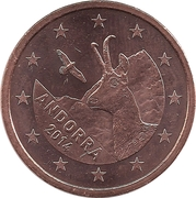 5 cents d'euro -  avers
