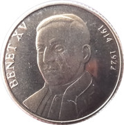 5 cèntims Benoît XV – revers