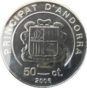 50 cèntims Benoît XVI – avers