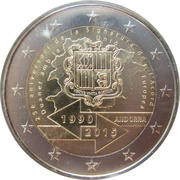 2 euros Accord douanier – avers