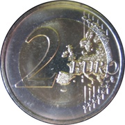 2 euros Accord douanier – revers