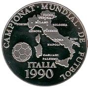 10 Diners (Coupe du monde de football Italie 1990) -  revers