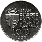 10 Diners (Coupe du monde de football Italie 1990) -  avers