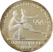 20 Diners (Jeux olympiques Albertville 1992) – revers