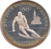 10 Diners Jeux olympiques d'hiver Albertville 1992 – revers