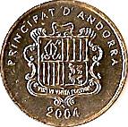 2 cèntims Sant Vicenç d'Enclar – avers