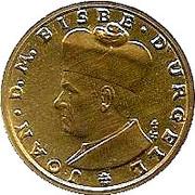 1 diner - Joan Martí i Alanis (Joan D'Urgell I) – revers