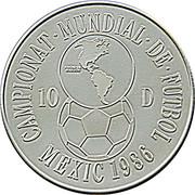 10 Diners (Coupe du monde de football Mexique 1986) -  revers