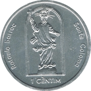 1 cèntim Santa Coloma - Retaule barroc – revers