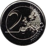 2 euros Le pays des Pyrénées – revers