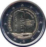 2 euros Constitution d'Andorre – avers