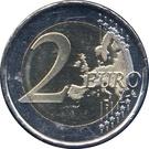 2 euros Constitution de la Principauté d'Andorre – revers