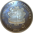 10 diners Jeux olympiques d'hiver Salt Lake City 2002 – avers