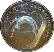10 diners Jeux olympiques d'hiver Salt Lake City 2002 – revers