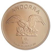 1 centim Aigle d'Andorre – avers