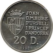 20 Diners (Jeux olympiques Barcelone 1992) -  avers