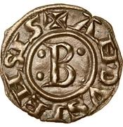 """Obole """"bernardine"""" à la croix ancrée - Bernard II – avers"""