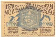 25 Pfennig (Angerburg) – avers