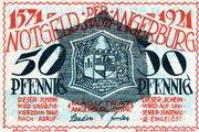 50 Pfennig (Angerburg) – avers