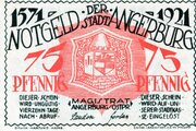 75 Pfennig (Angerburg) – avers