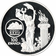 100 kwanzas (Jeux Olympiques) – revers