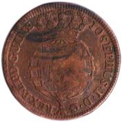 1 Macuta (Monnaie contremarquée) – avers