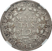 12 Macutas - José I (Colonie Portugaise) -  revers